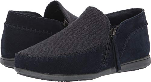 Minnetonka Womens Sidney Casual Shoe, Navy, Size 9 (6pm Minnetonka)
