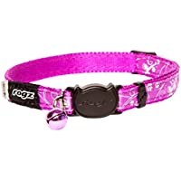Rogz Silkycat Safeloc Cat Collar, Purple Filigree