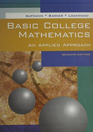 Basic College Math, Seventh Edition, Custom Publication
