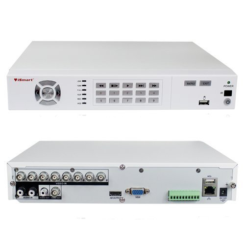 iSmart 8 Channel H.264 Full 960H HDMI DVR with 1TB HDD Home Security System Support Alarm and PTZ Camera, Good Shape D5608WH+1TB