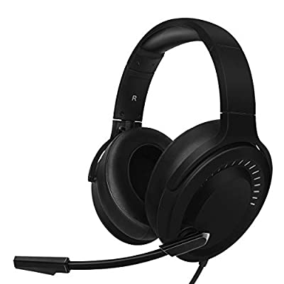NUBWO N15 Surround Sound Stereo Gaming Headset with Noise Cancelling Mic for PlayStation 4, PS4, Xbox One Controller, Nintendo Switch Lite, PC, Laptop, Android & IOS Phone