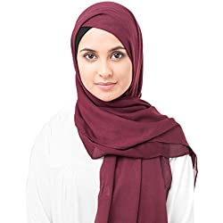 InEssence Rumba Red Viscose Woven Scarf Women Girls Wrap Large Size Hijab