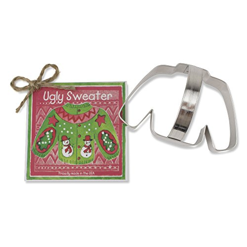 Sweater / Hockey Jersey Cookie and Fondant Cutter - Ann Clark – 4.125 Inches - US Tin Plated Steel