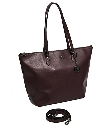Borsa donna Y Not shopping in vera pelle 777 Melody wine