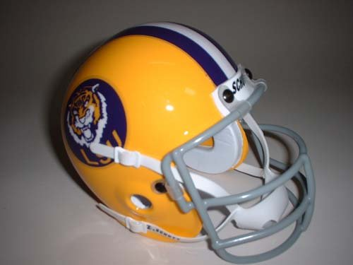 Schutt Louisiana State (LSU) Tigers 1975 Throwback Mini Helmet - Louisiana State Tigers Lsu Helmet