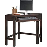 Home Styles 5536-17 City Chic Corner Laptop Desk, Espresso Finish