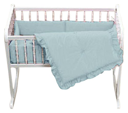Baby Doll Bedding Solid Cradle Set, Blue by BabyDoll Bedding   B00342UGWS