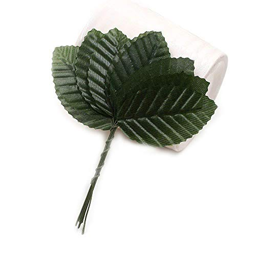Leaf 120pcs 5cm Nylon Silk Green Leaves Artificial Flower For Wedding Decoration DIY Wreath Gift Scrapbooking Craft Fake Flower (green)