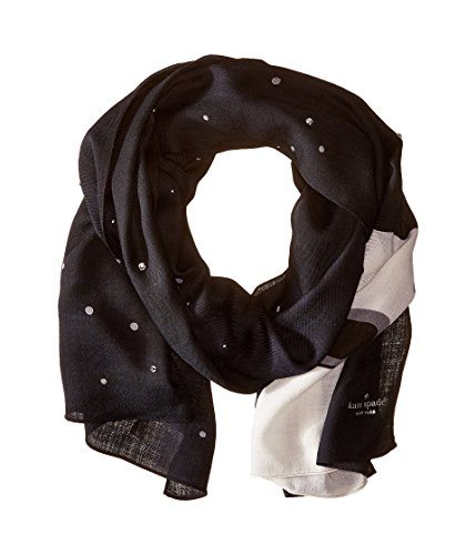 Kate Spade New York Women's Polar Bear Scarf, Rich Navy, One Size
