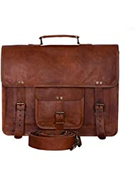 Komals Passion Leather Vintage 15 Inch Laptop Messenger Bag briefcase Satchel for Men and Women