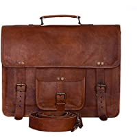 8df07af03131 Komal s Passion Leather Vintage 15 Inch Laptop Messenger Bag briefcase  Satchel for Men and Women