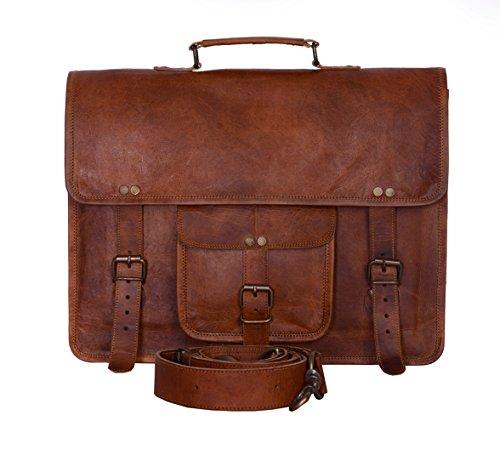 - Komal's Passion Leather Vintage 15 Inch Laptop Messenger Bag briefcase Satchel for Men and Women