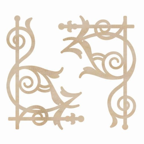 Wood Flourishes-Ornate Corners 2/Pkg