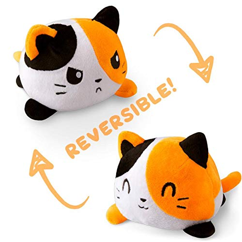 (TeeTurtle Reversible Cat Mini - Calico Plush Toys)
