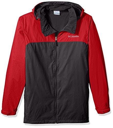 Columbia Men's Big and Tall Glennaker Lake Lined Rain Jacket, Shark, red Spark 2XT