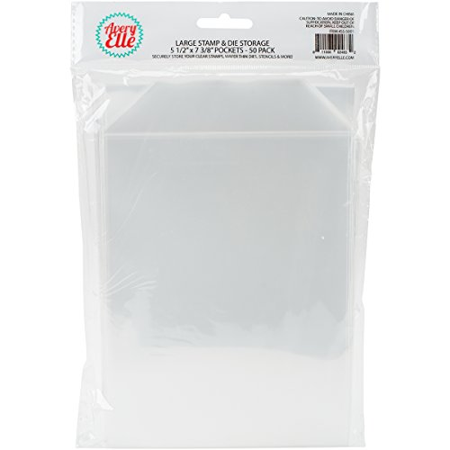 Avery Elle SS-5001 Stamp & Die Storage Pockets 50/Pkg Large 5 ½