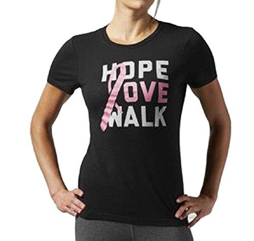 Ribbon Hope Love Walk Tee , Size S, Black (Avon T-shirt T-shirts)