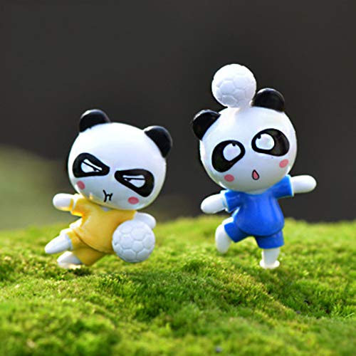 Viet SF Others - 1 Piece Football Soccer Kungfu Panda Bear Cat Player Russia Argentina Ball Model Statue Crafts Ornament Miniatures Decor 1 Pcs - Japanese Cat Statue