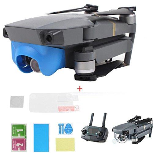 (Gotd Sun Shade Lens Hood Glare Gimbal Camera Cover + Protective Films For DJI Mavic Pro Drone (blue))