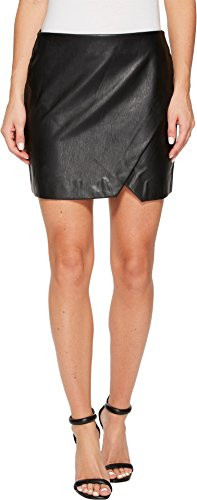 Blank NYC Women's Black Vegan Leather Mini Skirt in Black Ice Black Ice 30