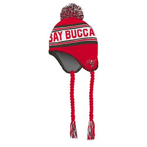 (Outerstuff NFL NFL Boys 4-7 Tassel Knit with Pom Hat, Red, Kids 1 Size)