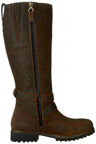Timberland Wheelwright de altura todos los Fit de la mujer WP botas de ingeniero, Oscuro de goma frontera, 9W nosotros