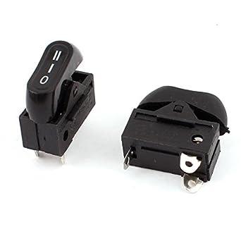 DealMux AC 250V 6A 125V 10A SPDT 3 Position Switch Rocker 2pcs para Secador de Cabelo: Amazon.es: Industria, empresas y ciencia