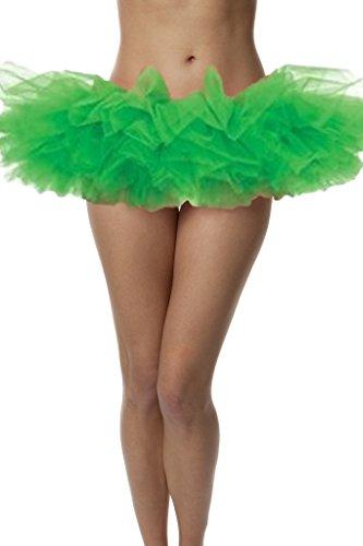 Girls Green Organza Tutu (Top Rated Adult Tutu Skirt, ballet tutu style, by BellaSous. Perfect princess tutu, adult dance skirt, rehearsal tutu, or petticoat skirt. Plus size tutu available! One Size - Kelly Green tutu)