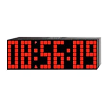ZJchao Big Time Clocks LED Digital Alarm/Countdown/up Clock with Remote