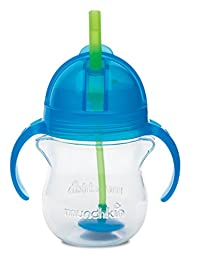 Munchkin Click Lock Weighted Flexi Straw Trainer Cup, Blue, 7 Ounce BOBEBE Online Baby Store From New York to Miami and Los Angeles