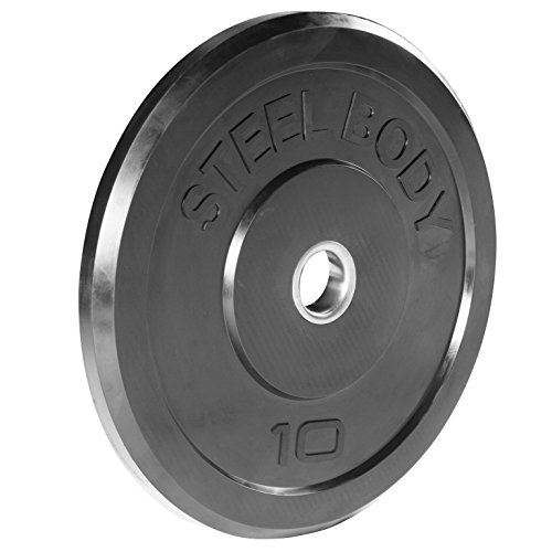 Steelbody Olympic Rubber Bumper Weight Plate - 10 lb. / 25 lb. / 35 lb. / 45 lb. Workout Weights