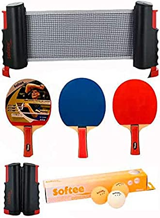 Softee Equipment Super Set Ping Pong Negro/Naranja