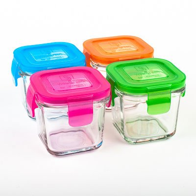 Learn More About Wean Green Glass Baby Food Storage Containers, Wean Cube 4 Ounces, Garden Pack (4 P...