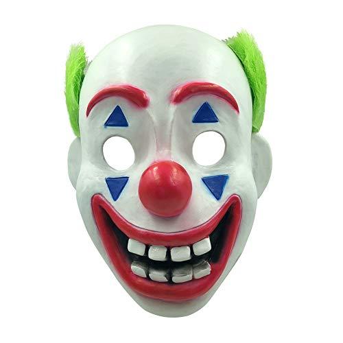 Halloween Ii 2019 Mask (Derson Joker Masker Joaquin Phoenix Joker Costume 2019 for Halloween Carnival Cosplay Party Full Head Scary Joker Mask Style)