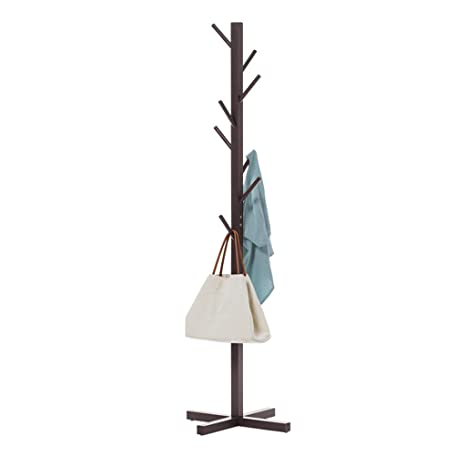 Amazon.com: Perchero de pie de 5.2 ft, de madera maciza, con ...