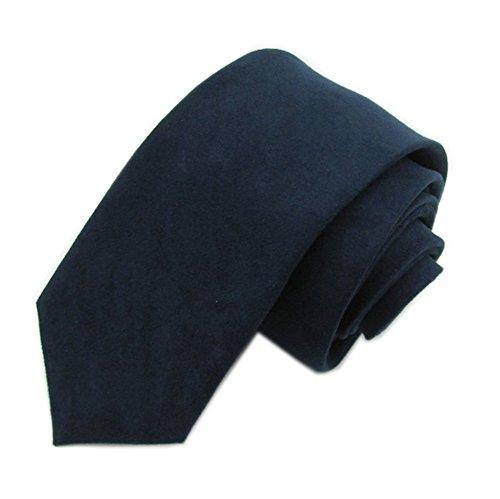 (Men Boy Autumn Navy Skinny Tie Ultra Slim Business Sharp Handsome Washed Necktie )