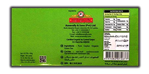 Green Tea - 25 Tea Bags | 100% Ceylon Tea | Organic tea | Natural & Pure & Unique Quality & Freshness| From Sri Lanka | Original | Tea4U