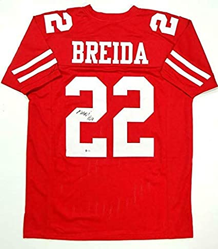 new product ce9c9 4997e Signed Matt Breida Jersey - Red Pro Style Beckett *L2 ...