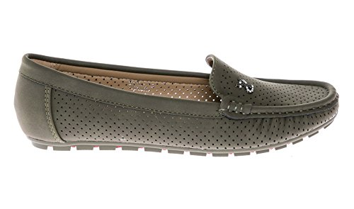 Slip Flats CALICO Comfort On KIKI Shoes Mocassins Women's Khaki Loafers RTFZT41
