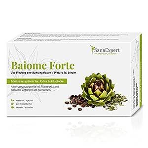 SanaExpert Baiome Forte, Quemador de Grasa, Aglutinante de Grasas, Adelgazante con Extracto de alcachofas, Extracto de semilla de café verde, Té ...