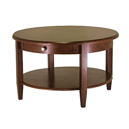Round Coffee Table With Drawers 1