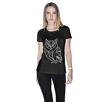 Creo Owl Animal T-Shirt For Women - M, Black