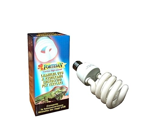 Lampada uvb 26 watt 5 0 fortesan emette raggi uva e uvb for Lampada raggi uvb per tartarughe