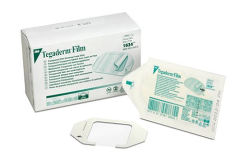 3M Tegaderm Transparent Film Dressing Frame Style 1634, 100 Bags (Pack of 4) by 3M