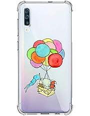 Oihxse Silicona Funda con Samsung Galaxy S9 Plus TPU Flexible Suave Transparente Protector Estuche Airbag Esquinas Reforzadas Ultra-Delgado Elefante Patrón Anti-Choque Caso (D8)