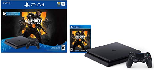 Playstation 4 Slim 1TB Solid State Drive Console with Call of Duty Black Ops 4 Bundle