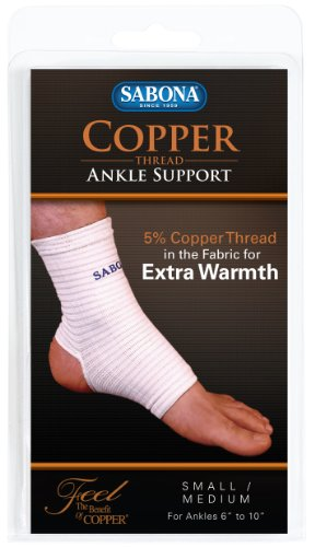 Sabona Copper Thread Ankle Support, Small/Medium