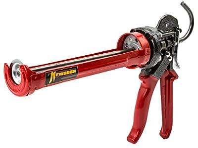 Newborn 375-XSP Super Smooth Rod Revolving Frame Caulking Gun, 1/10 Gallon Cartridge, 26:1 Thrust Ratio
