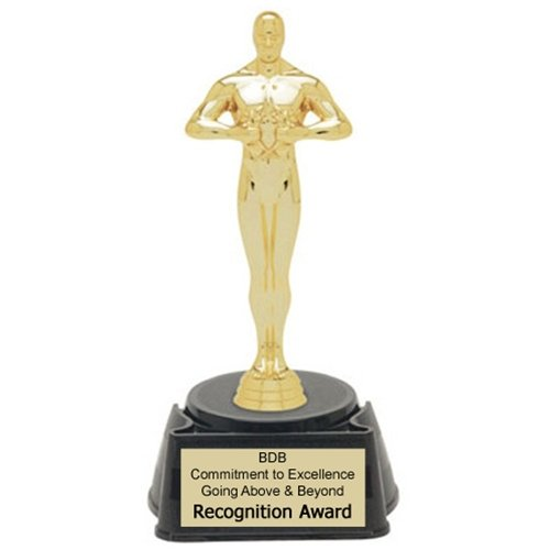 Achievement Oscar Figure Trophy With 4 Lines Of Custom Text