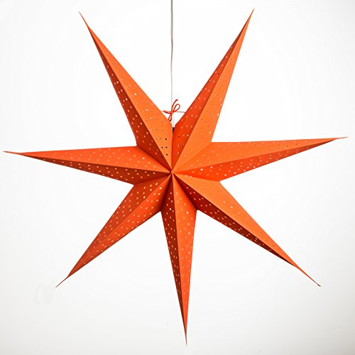 Radius-Orange-Paper-Star-Light-Lamp-Lantern-with-12-Foot-Power-Cord-Included